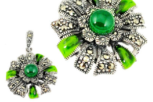 Spot out a Fascinating Collection of Green Chalcedony...