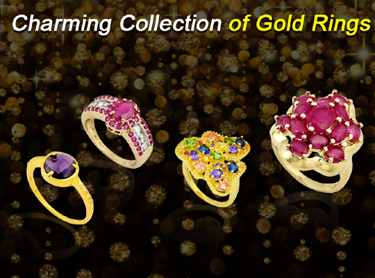 Charming collection of Gold Rings Image