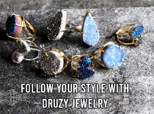 Follow Your Style With Druzy Jewelry Image