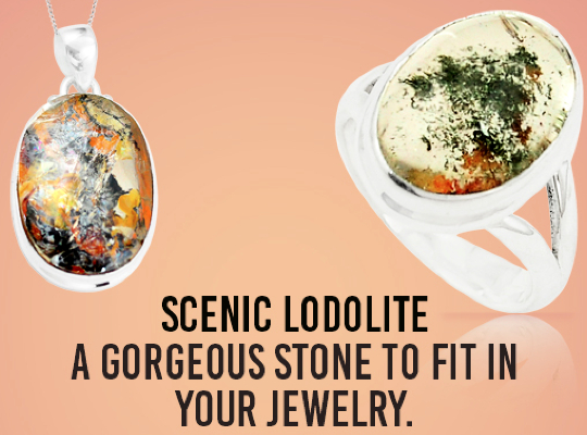 Scenic Lodolite - A gorgeous stone to fit in your jewelry. Image