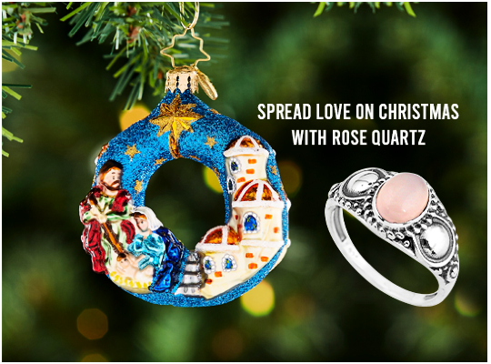 Spread Love On Christmas With Rose Quartz Image