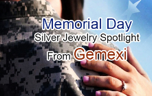 Memorial Day Silver Jewelry Spotlight from Gemexi