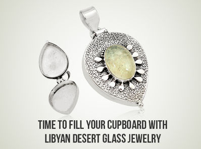 Time To Fill Your Cupboard With Libyan Desert Glass Jewelry