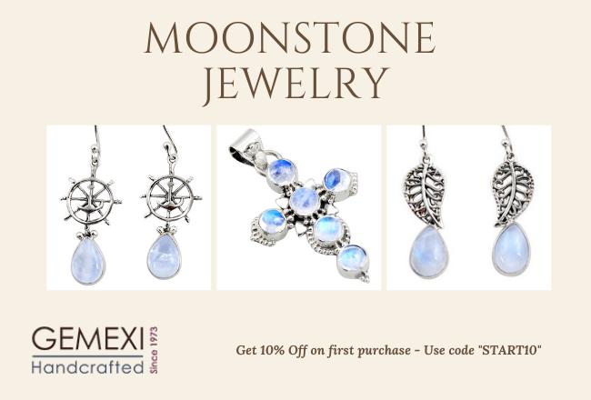 Real moonstone jewelry