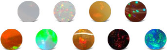 Ethiopian Opal Colors