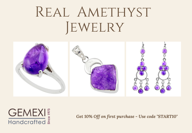 real amethyst jewelry