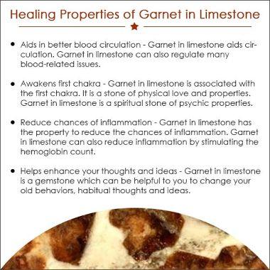 Garnet in Limestone