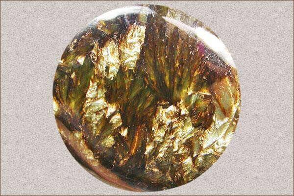 Beautiful Golden Black Seraphinite Pendant