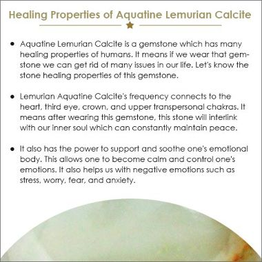 Aquatine Lemurian Calcite