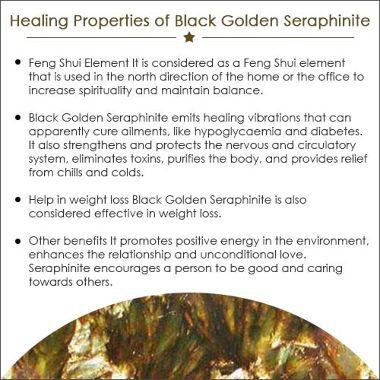 Black Golden Seraphinite