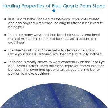 Blue Quartz Palm Stone