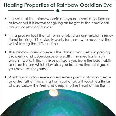 Rainbow Obsidian Eye