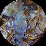 boulder opal carving