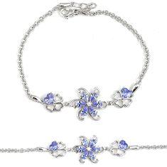 5.66cts purple amethyst quartz topaz 925 sterling silver bracelet jewelry a30048