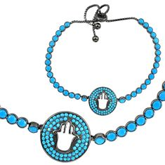 Clearance Sale-Sleeping beauty turquoise rhodium 925 silver adjustable tennis bracelet a55628