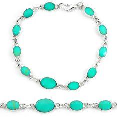 Clearance Sale-925 sterling silver fine green turquoise enamel tennis bracelet jewelry a56028