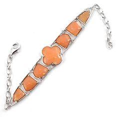925 sterling silver natural pink opal fancy shape bracelet jewelry a59353
