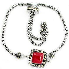 Natural honey onyx marcasite 925 sterling silver adjustable bracelet a64998