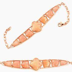 925 sterling silver natural pink opal fancy 14k gold bracelet jewelry a76017