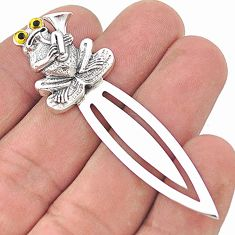 Vintage style lucky frog gift 925 silver 14k gold frog bookmark a82385