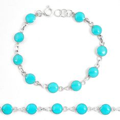 5.89gms fine green turquoise enamel 925 sterling silver tennis bracelet a94911