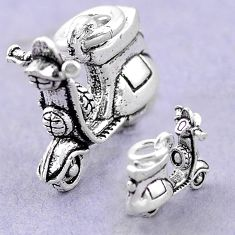 5.22gms scooter charm baby jewelry 925 sterling silver children pendant a82539