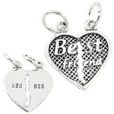 Best friend split baby jewelry charm sterling silver children pendant a82569