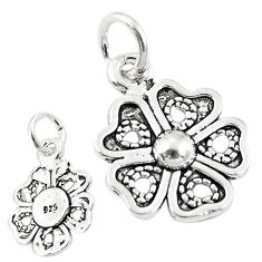 2.02gms four-leaf clover good luck sterling silver baby pendant jewelry a82595