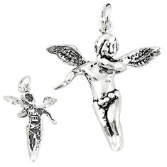 Baby jewelry angel wings charm sterling silver children pendant a82601