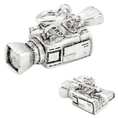 5.69gms camcorder charm solid 925 sterling silver children pendant a82606