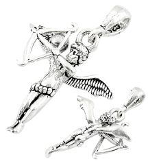 Bow arrow angel wing cupid charm 925 sterling silver children pendant a82650