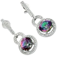 925 sterling silver multi color rainbow topaz dangle earrings jewelry a25688