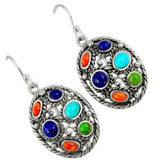 Southwestern arizona sleeping beauty turquoise silver dangle earrings a33509