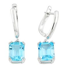 925 sterling silver natural blue topaz dangle earrings jewelry a47076