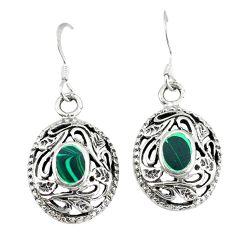 Clearance Sale-Green malachite (pilot's stone) 925 silver dangle earrings jewelry a49891