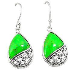 Clearance Sale-Southwestern green copper turquoise 925 silver dangle earrings jewelry a54251