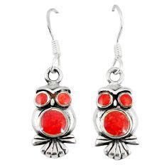 Clearance Sale-Honey onyx enamel 925 sterling silver owl earrings jewelry a55537