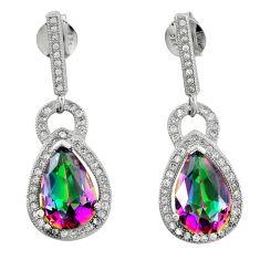 925 silver multi color rainbow topaz white topaz dangle earrings a62428