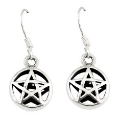 Indonesian bali style solid 925 silver star of david earrings jewelry a73813