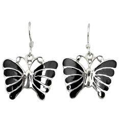 925 sterling silver black onyx enamel dangle butterfly earrings jewelry a73884
