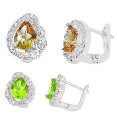 Purple alexandrite (lab) topaz 925 sterling silver stud earrings jewelry a75092