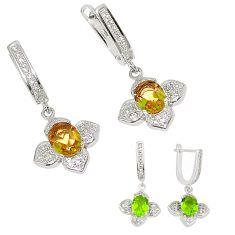 Purple alexandrite (lab) topaz 925 sterling silver earrings jewelry a75123