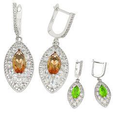 Purple alexandrite (lab) topaz 925 sterling silver earrings jewelry a75126