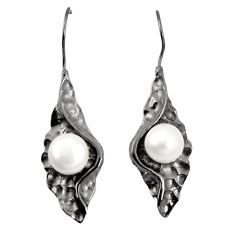 925 sterling silver natural white pearl dangle earrings jewelry a75245