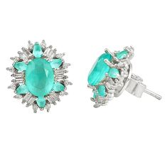 Natural aqua chalcedony topaz 925 sterling silver earrings a76950