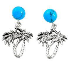 925 sterling silver fine blue turquoise dangle palm tree earrings jewelry a79816