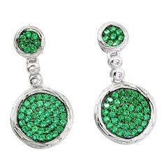Green emerald quartz 925 sterling silver dangle earrings jewelry a82784