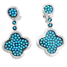 925 sterling silver fine blue turquoise dangle earrings jewelry a82820