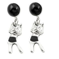 925 sterling silver natural black onyx dangle earrings jewelry a83500