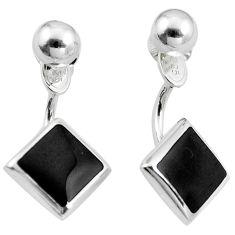 Black onyx enamel 925 sterling silver dangle earrings jewelry a86272